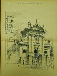 Chiesa di St. Francesca Romana, Rome, Italy, 1891, Original Plan.
