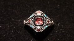 Natural Garnet & Opal 925 Solid Sterling Silver by GlowingEmpire, $105.00