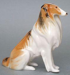 Lomonosov Figurine Collie Dog | eBay