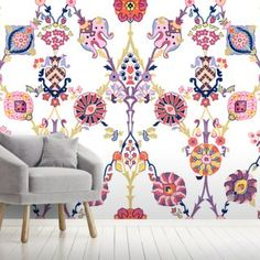 Give your home a makeover with this custom-made Kilim wallpaper. FREE UK delivery within 2 to 4 working days. Oriental Wallpaper, Chinoiserie Wallpaper, Photo Wallpaper, Wall Wallpaper, Wall Painting Living Room, Wall Murals, Wall Art, Peel And Stick Wallpaper, Designer Wallpaper