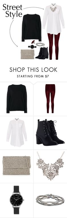 """""""Lace-Up Boots: Glam"""" by kayla-846 ❤ liked on Polyvore featuring Frame Denim, Weekend Max Mara, Zimmermann, Reiss, Olivia Burton and NOVICA"""