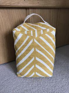 Mimi Pickard Linen Doorstop - Bell in Ochre Doorstop, Uk Shop, Herringbone, Home Accessories, Color Pop, Throw Pillows, Traditional, Stitch, Fabric