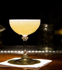 Reforma: Tequila, Pear Brandy, honey, lemon, and ginger. I want this in my face right now.