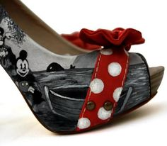 Mickey Mouse heels!