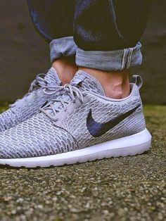 Wolf Grey Nike Roshe Fly Knit | Raddest Men's Fashion Looks On The Internet: http://www.raddestlooks.org