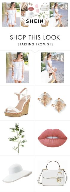 """Brunch?"" by lifeoflucy ❤ liked on Polyvore featuring WithChic, Charles by Charles David, Suzanne Kalan, Pier 1 Imports, Lime Crime, Eric Javits, Michael Kors and LMNT"