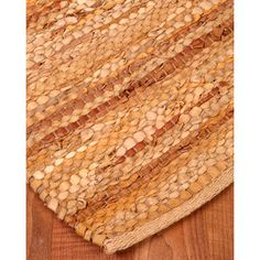 Natural Area Rugs Adore Leather Hand Loomed Area Rug