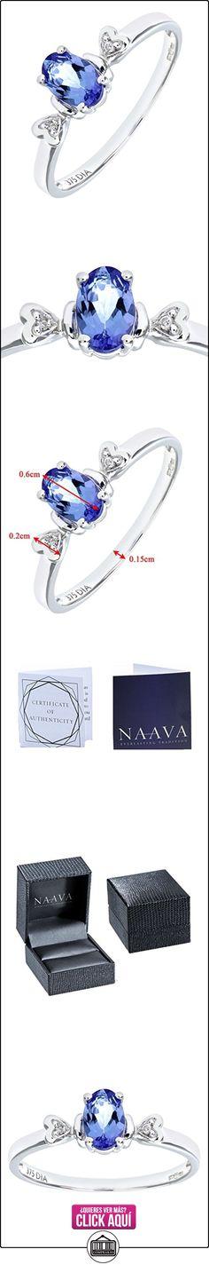 Bague Femme - PR07995W Tanz-O - Anillo de mujer de oro blanco (9k) con 3 tanzanitas y diamantes (talla: 15.5)  ✿ Joyas para mujer - Las mejores ofertas ✿ ▬► Ver oferta: https://comprar.io/goto/B005A120T8