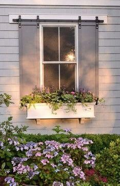 House Exterior Cottage Shutters For 2019 Exterior Blinds, Window Shutters Exterior, Outdoor Shutters, Diy Shutters, Exterior Paint, Exterior Design, Windows With Shutters, Homes With Shutters, Outside Window Shutters