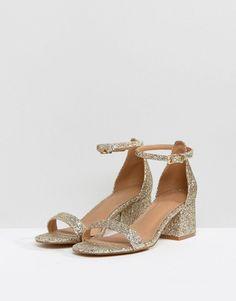 ASOS HONEYDEW Heeled Sandals - Gold