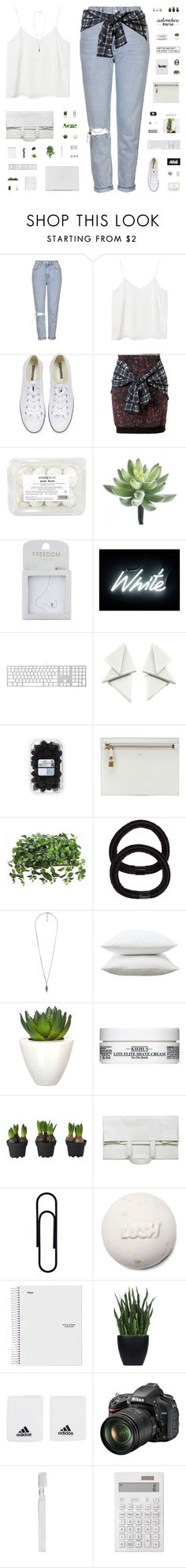 """""""FEEL GOOD"""" by c-hristinep ❤ liked on Polyvore featuring Topshop, Monki, Converse, 3.1 Phillip Lim, Seletti, Tom Ford, John Lewis, Forever 21, Fieldcrest and Pomax"""