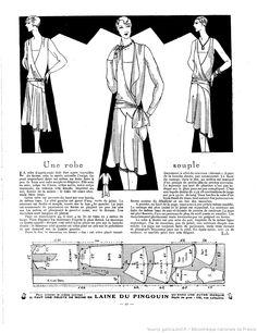 Robe souple (La Femme de France 14/10/1928)