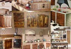 Mix di particolari di cucine in muratura