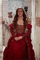 "kosem-sultan:  gorgeous costumes in ""muhteşem yüzyıl:kösem""↳ mahpeyker hatun's crimson dress"