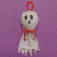 Sock Ghost Craft simple simple.. for the little ones