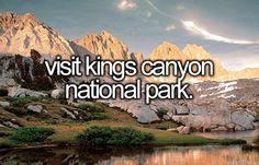 Visit King's Canyon National Park