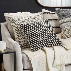Xavier Pom Pom Pillows Set of 2 Moroccan Decor Living Room, Morrocan Decor, Designer Pillow, Pillow Design, Linen Bedding, Bedding Sets, Bed Linens, Crib Sets, Comforter