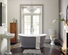 Simple bathroom love the tub