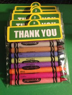 Sesame Street Party Favors- 15 Sesame Sign Crayon Favors on Etsy, $33.00