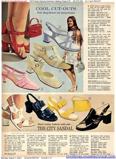 Mod Fashion, 1960s Fashion, Vintage Fashion, Vintage Magazines, Vintage Ads, Vintage Style, Vintage Shoes Women, Vintage Outfits, 1970s Clothing