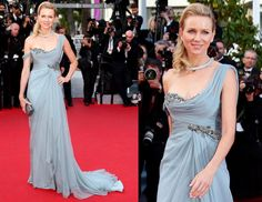 Naomi Watts Wearing Marchesa - 'How To Train Your Dragon 2' 2014 Cannes Film Festival Premiere