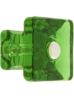 Kitchen Knobs Glass Square Glass Cabinet Knob With Nickel Bolt In Many Colors