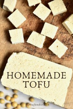 Two super simple methods for how to make tofu at home - using just a few ingredients for each method,low budget, from soft to firm homemade tofu Tofu Recipes, Whole Food Recipes, Cooking Recipes, Vegetarian Recipes, Vegetarian Options, Savoury Recipes, Cooking Ideas, Vegan Foods, Vegan Dishes