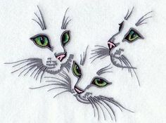 Machine Embroidery Designs at Embroidery Library! - Kitten Trio