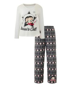 """Betty Boop"" Betty Boop Dressed To Chill Pajamas at Simply Be"