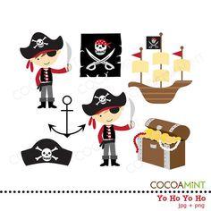Yo Ho Yo Ho Pirate Clip Art by cocoamint on Etsy, $5.00