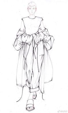 Illustration - Fushion News Fashion Sketchbook, Fashion Illustration Sketches, Fashion Sketches, Dress Sketches, Illustrations, Fashion Design Portfolio, Fashion Design Drawings, Fashion Model Drawing, Flat Drawings