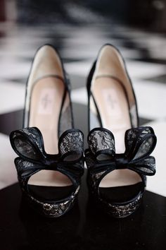 Lace Valentino Bow Peep-Toes