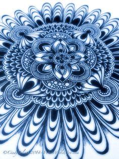 Sketchbook Mandala in Blue | Flickr - Photo Sharing!