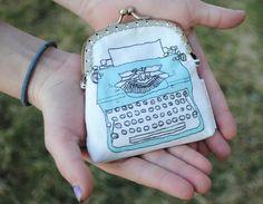 sweet little typewriter change purse.