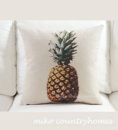 Decorative Pineapple Pillow Perfect for a Teens Bedroom!!