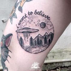 space tattoo aliens love cute lines ink black believe planets earth universe tattoos words