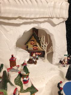 Elf Bunkhouse- carved the cave with Hotwire Foam Factory tools