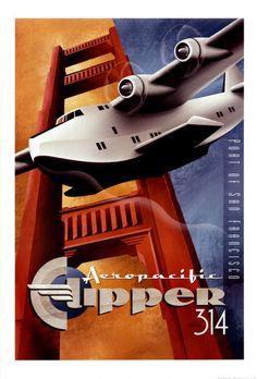 Port of San Francisco with Aeropacific Clipper 314