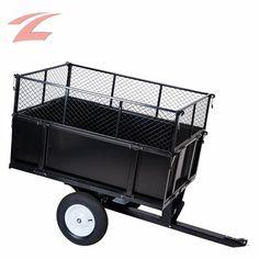 ZNL Neu Anhänger 300kg Transport Rasentraktoren Quad kippbar Aufsitzmäher ZTC-05