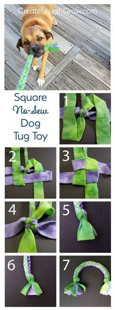 June 20 How to make a Square Knot Dog Tug Toy . - June 20 How to make a Square Knot Dog Tug Toy - Kong Dog Toys, Pet Toys, Baby Toys, Diy Pour Chien, Smart Dog Toys, Diy Toys For Dogs, Diy Puppy Toys, Diy Dog Toys For Chewers, Diys For Dogs