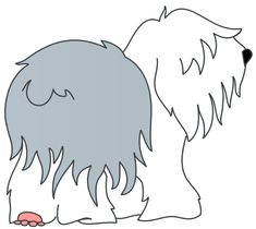 old english sheepdog cartoon art   Search Terms: cartoon, cartoon dog, cat, chase, dog, dog chasing cat