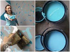 DIY: Pieczątki do malowania ścian zrobisz domowym sposobem. Efekt murowany! #majsterki