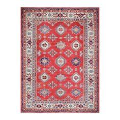 Herat Oriental Afghan Hand Knotted Tribal Vegetable Dye Super Kazak Wool Rug 10