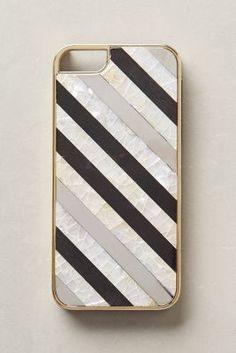 Rafe Nacre Striped iPhone 5 Case #anthrofave #anthropologie