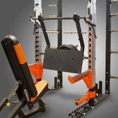 Leg Press Power Rack Attachment by Legend Home Made Gym, Diy Home Gym, Home Gym Decor, Best Home Gym, Bodybuilder, Leg Press, Gym Workouts, At Home Workouts, Gym Rack