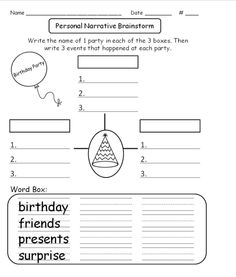 About a birthday party used with quot step up to writing quot format more