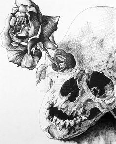 sugar skull drawing - Google zoeken