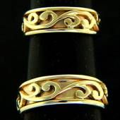 Koru wedding rings