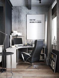 Modern industrial apartment by Denis Krasikov