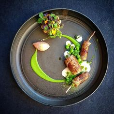 "Linking the Culinary World (@cookniche) on Instagram: ""Anjoul quail, peas buttermilk and spring tart by Chef Tomas Lidakevisius @thomekas"""